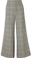 Isabel Marant Trevi Checked Tweed Wide-leg Pants - Green