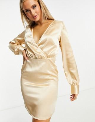 Ivyrevel Ivy Revel drape detail dress in gold