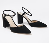 Marc Fisher Pointy Toe Pumps with Ankle Straps - Velise