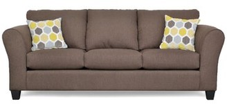 """Three Posts Fredericktown 96"""" Flared Arm Sofa Upholstery Color: Zander Chocolate"""