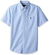 U.S. Polo Assn. Men's Short Sleeve Classic Fit Single Pocket Solid Sport Shirt