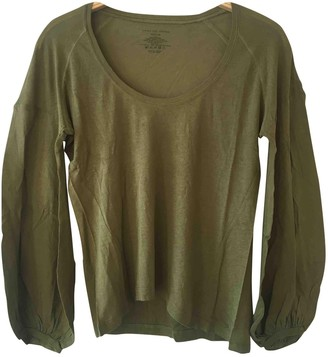 Dries Van Noten Green Cotton Top for Women Vintage