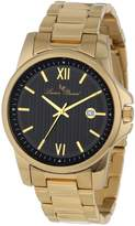Lucien Piccard Men's 10048-YG-11 Breithorn Textured Dial Gold Ion-Plated Stainless Steel Watch