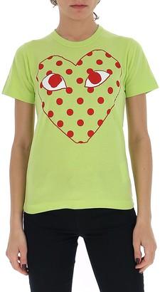Comme des Garcons Outline Polka-Dot Heart T-Shirt