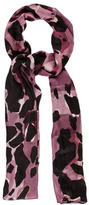 Burberry Animal Print Mega Check Silk Scarf