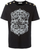 Pierre Balmain logo print T-shirt - men - Cotton - 50