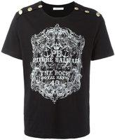 Pierre Balmain logo print T-shirt - men - Cotton - 52