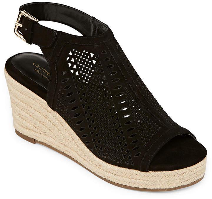 Liz Claiborne Womens Hardie Wedge Sandals