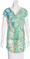 Etro Printed Ruched Tunic