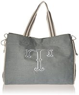 Mud Pie Gray Iniial oe Diaper Bag