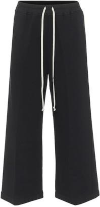 Rick Owens DRKSHDW Felpa cropped drawstring pants