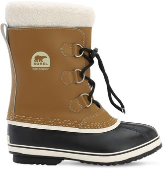Sorel Waterproof Coated Leather Boots