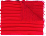 Valentino Garavani Valentino pleated and lace scarf - women - Silk/Polyamide/Viscose/Modal - One Size