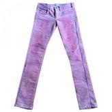 Roseanna Pink Velvet Trousers for Women