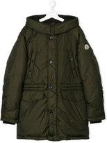 Moncler teen long sleeve hooded coat