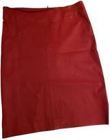 Joseph Red Leather Skirts