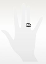 Kenzo Cosmos - Sterling Silver and Rose Wood Ring