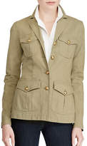 Lauren Ralph Lauren Petite Canvas Military Jacket