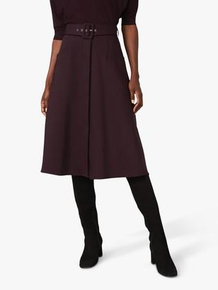 Phase Eight A-Line Knee Length Skirt, Plum