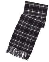 Chaps Men's Reversible Plaid and Herringbone Scarf