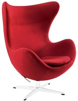 The Well Appointed House Organic Red Natural Lounge Chair