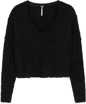 Free People Seashell black V-neck jumper