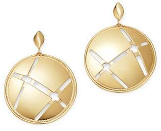 Bloomingdale's Disc Earrings in 14K Yellow Gold - 100% Exclusive
