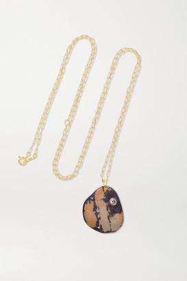 Cvc Stones Rebellious 18-karat Gold, Stone And Diamond Necklace - one size