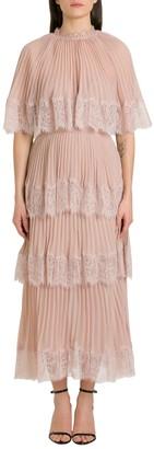 Self-Portrait Chiffon Dress With Matching Cape