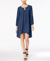 NY Collection Folded High-Low Peasant Dress