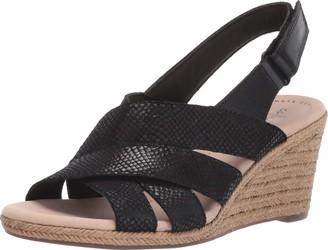 Clarks Women's Lafley Krissy Espadrille Wedge Sandal
