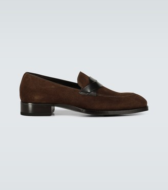 Tom Ford Suede Elkan twisted band loafers