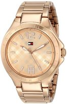 Tommy Hilfiger Women's 1781384 Rose Gold-Tone Stainless Steel Watch