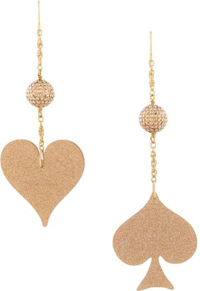 Undercover Spade and Heart drop earrings