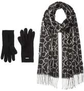 Calvin Klein Oversized Logo Scarf and Gloves Set Scarves