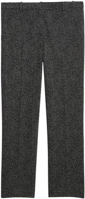 Theory Speckled Knit Cropped Tailored Trousers