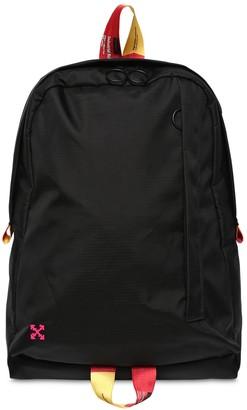 Off-White Easy Nylon Backpack W/ Webbing Straps