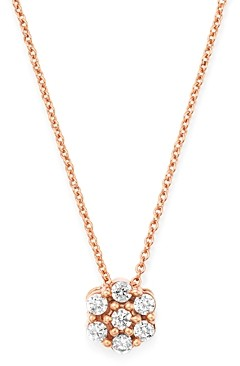 Bloomingdale's Diamond Cluster Pendant Necklace in 14K Rose Gold, 0.15 ct. t.w. - 100% Exclusive