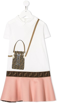Fendi FF handbag print dress