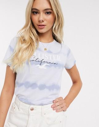 Hollister logo tie dye t-shirt