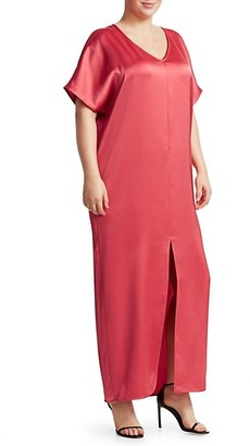 Marina Rinaldi, Plus Size Elegante Domanda Satin Maxi Dress