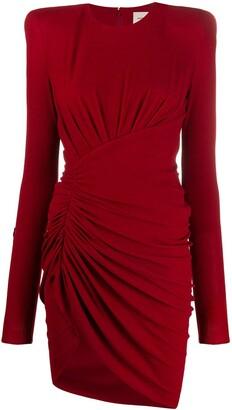 Alexandre Vauthier Asymmetric Gathered Mini Dress