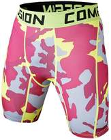 1Bests Men's Sports Fitness Camouflage Tight Underpants Running Compression Shorts (M, )