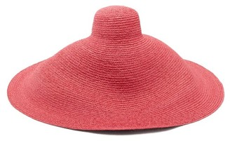 Jacquemus Valensole Oversized Straw Hat - Womens - Pink