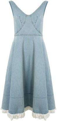 Patou Blueberry denim midi dress