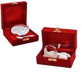 Indian Gift Emporium Apple n Duck Shaped Polished Mouth Freshner Bowls Combo Set COMB361