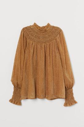 H&M Burnout-patterned blouse