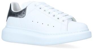 Alexander McQueen Croc-Embossed Leather Show Sneakers