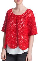 Plenty by Tracy Reese Ruby Lace Combo Top
