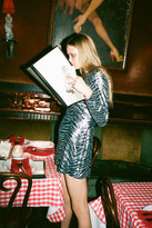Urban Outfitters UO Wild Night Sequin Animal Print V-Back Mini Dress